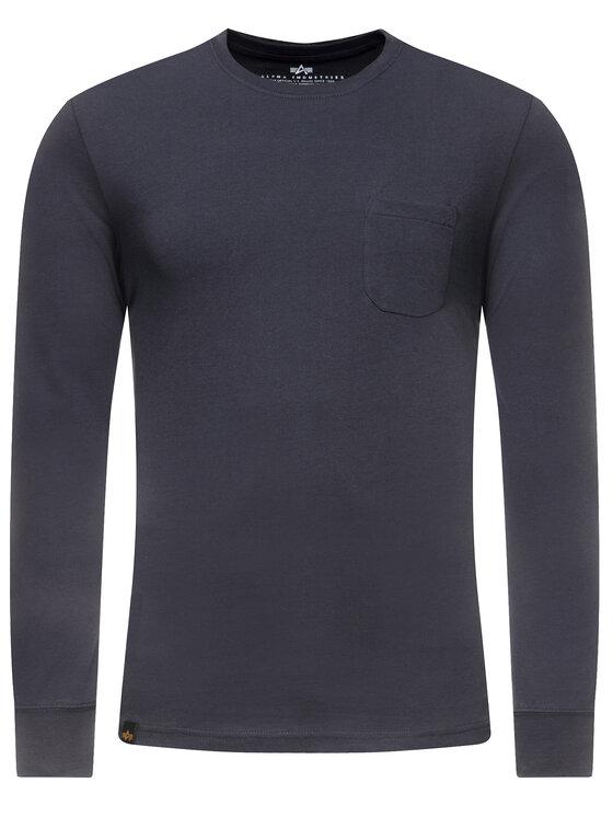 Alpha Industries Alpha Industries Тениска с дълъг ръкав Nasa 176532 Тъмносин Regular Fit