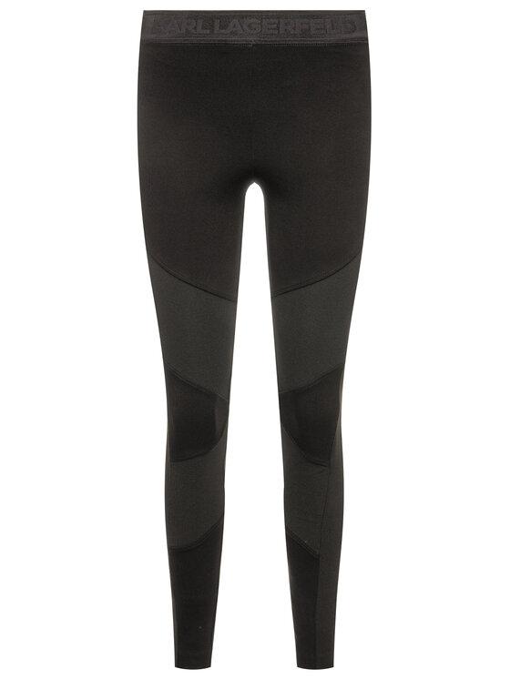 KARL LAGERFELD KARL LAGERFELD Leggings 96KW1051 Fekete Slim Fit