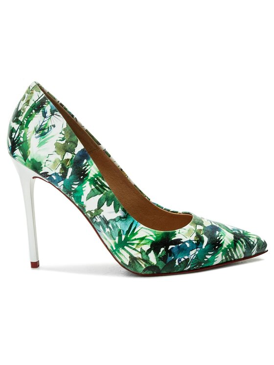 Eva Minge Eva Minge Pantofi cu toc subțire Sueca 3B 18BD1372366ES Verde