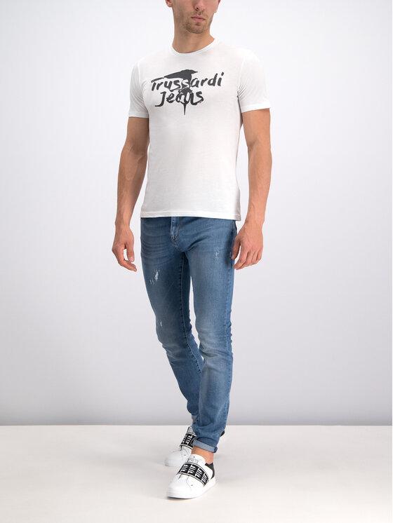 Trussardi Trussardi T-Shirt 52T00240 Bílá Regular Fit