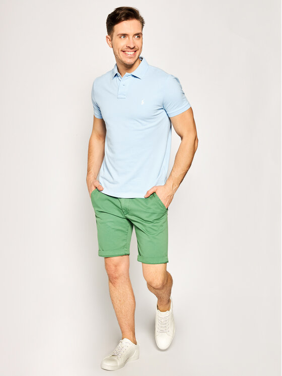 Pepe Jeans Pepe Jeans Шорти от плат Mc Queen PM800227C75 Зелен Regular Fit