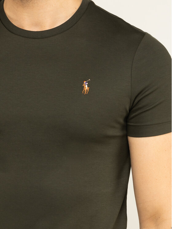 Polo Ralph Lauren Polo Ralph Lauren T-shirt 710740727 Verde Slim Fit