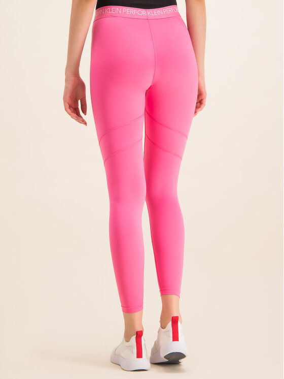 Calvin Klein Performance Calvin Klein Performance Legginsy 00GWS8L630 Różowy Slim Fit