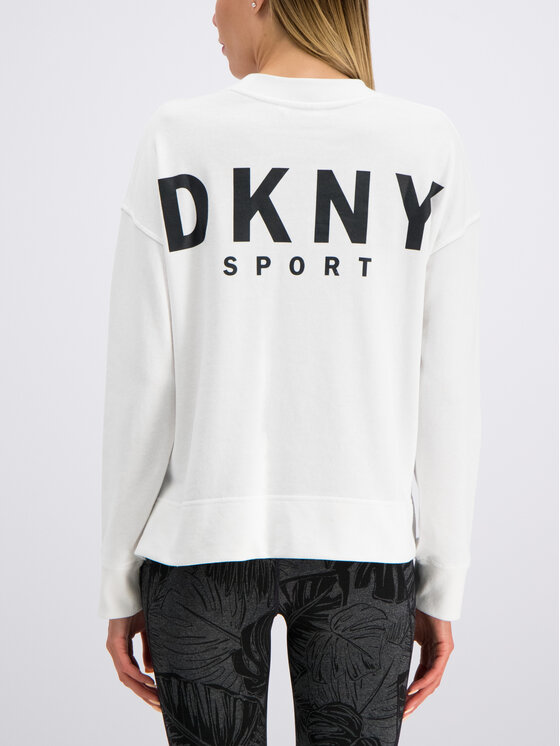 DKNY Sport DKNY Sport Суитшърт DP9T6565 Бял Relaxed Fit