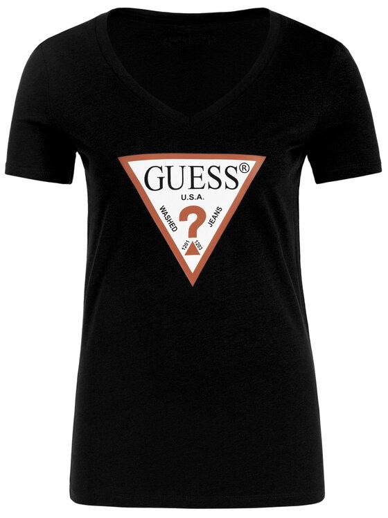 Guess Guess T-shirt W93I91 K19U1 Nero Regular Fit