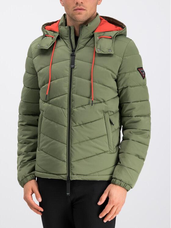 Guess Guess Veste d'hiver M94L50 WC2A0 Vert Regular Fit