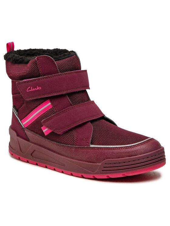 Clarks Clarks Śniegowce Jumperspring Y 261558367 Bordowy
