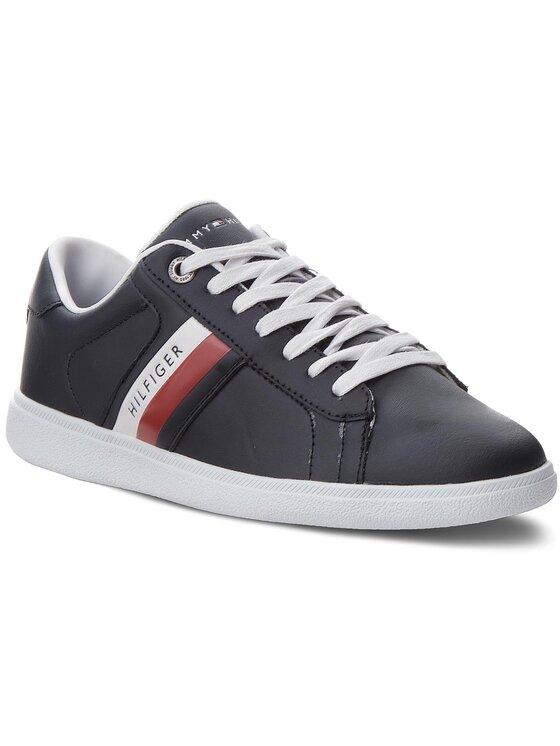 Tommy Hilfiger Tommy Hilfiger Laisvalaikio batai Core Corporate Leath FM0FM01697 Tamsiai mėlyna