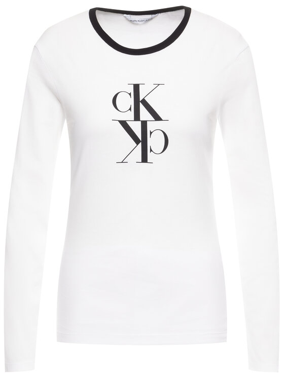 Calvin Klein Jeans Calvin Klein Jeans Blúz J20J213067 Fehér Regular Fit