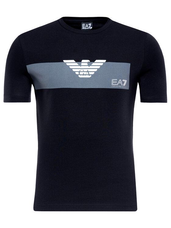 EA7 Emporio Armani EA7 Emporio Armani Marškinėliai 3GPT10 PJP6Z 1200 Juoda Regular Fit
