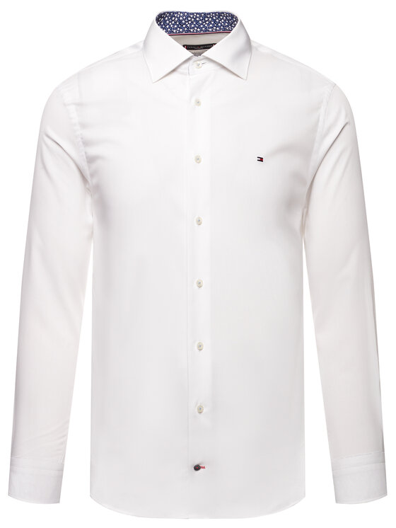 Tommy Hilfiger Tailored Tommy Hilfiger Tailored Hemd Poplin Classic TT0TT06631 Weiß Regular Fit