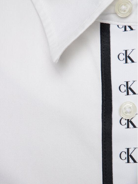 Calvin Klein Jeans Calvin Klein Jeans Πουκάμισο Monogram Tape J30J313122 Λευκό Regular Fit