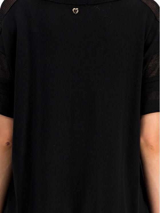 My Twin My Twin Sukienka codzienna Maxi Maglia 191MT3160 Czarny Regular Fit