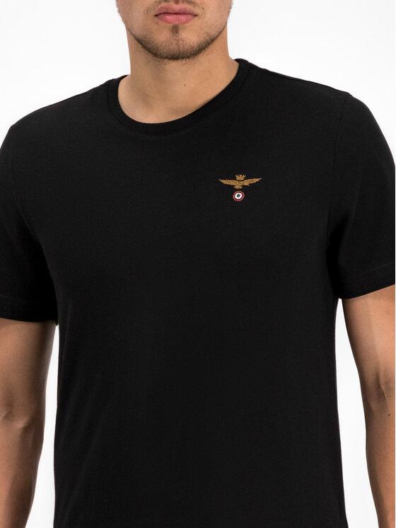 Aeronautica Militare Aeronautica Militare T-Shirt 192TS1343J419 Μαύρο Regular Fit