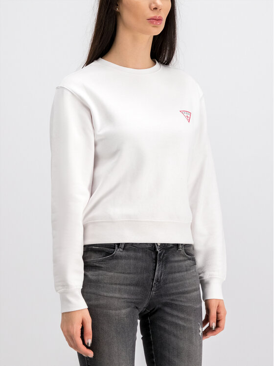 Guess Guess Суитшърт Basic W94Q29 K8RS0 Бял Oversize