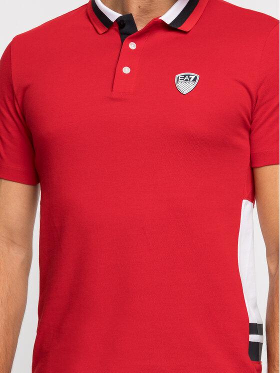 EA7 Emporio Armani EA7 Emporio Armani Polo marškinėliai 3GPF82 PJ61Z 1450 Raudona Regular Fit