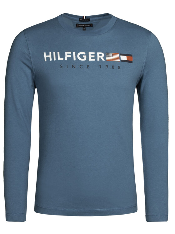 TOMMY HILFIGER TOMMY HILFIGER Блуза KB0KB04997 D Син Regular Fit