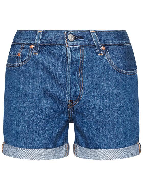 Levi's® Levi's® Szorty jeansowe 501® Flat Finish 29961-0021 Granatowy Regular Fit