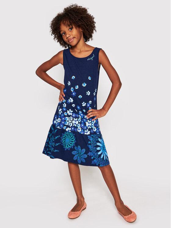 Desigual Desigual Ежедневна рокля lISA 21SGVK04 Тъмносин Regular Fit