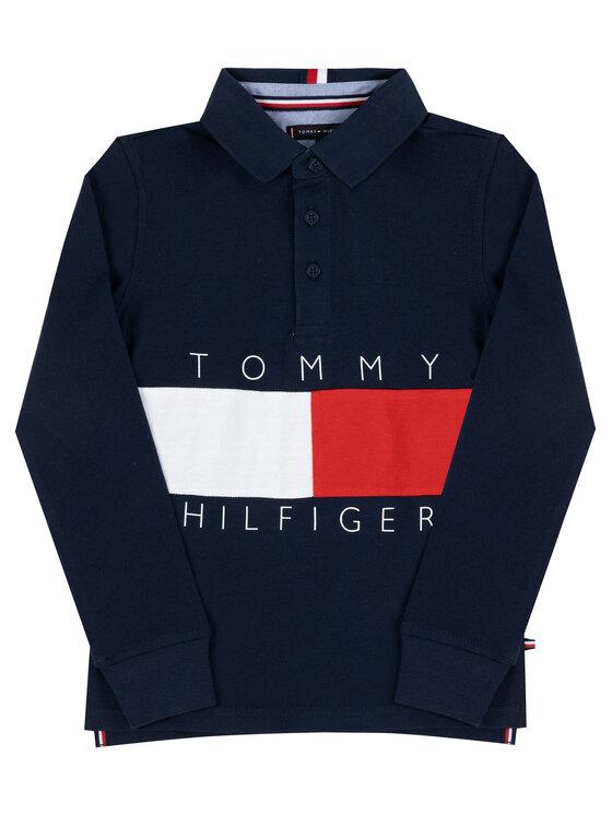 Tommy Hilfiger Tommy Hilfiger Polohemd Flag Logo KB0KB05121 D Dunkelblau Regular Fit