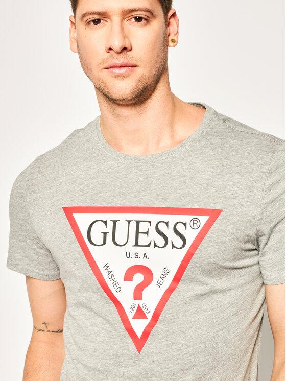 Guess Guess Tricou M94I42 I3Z00 Gri Slim Fit