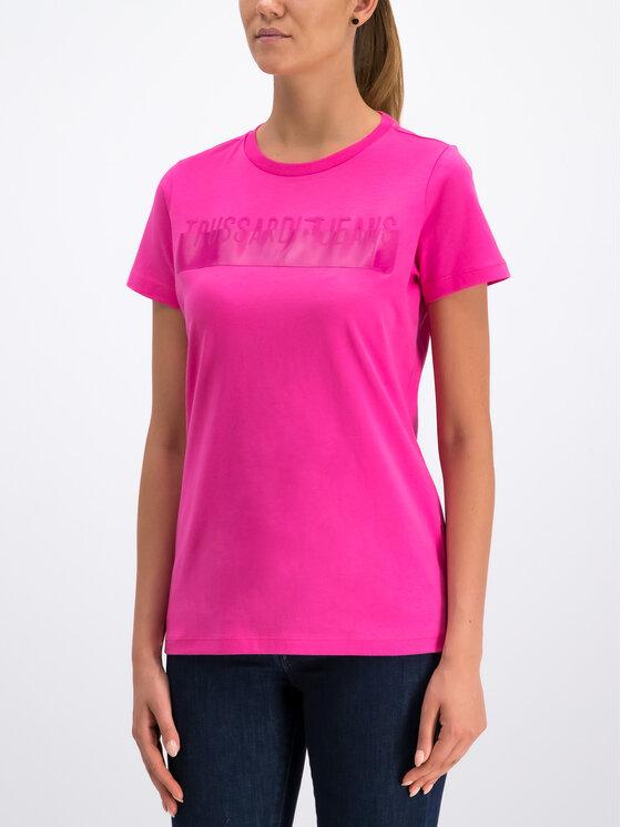 Trussardi Jeans Trussardi Jeans T-Shirt Cotton Jersey 56T00192 Rosa Regular Fit