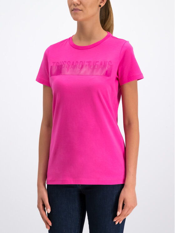 Trussardi Jeans Trussardi Jeans T-Shirt Cotton Jersey 56T00192 Różowy Regular Fit