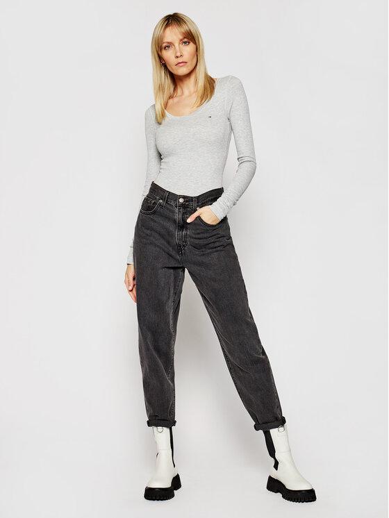 Tommy Jeans Tommy Jeans Bluză Tjw Original DW0DW04708 Gri Regular Fit
