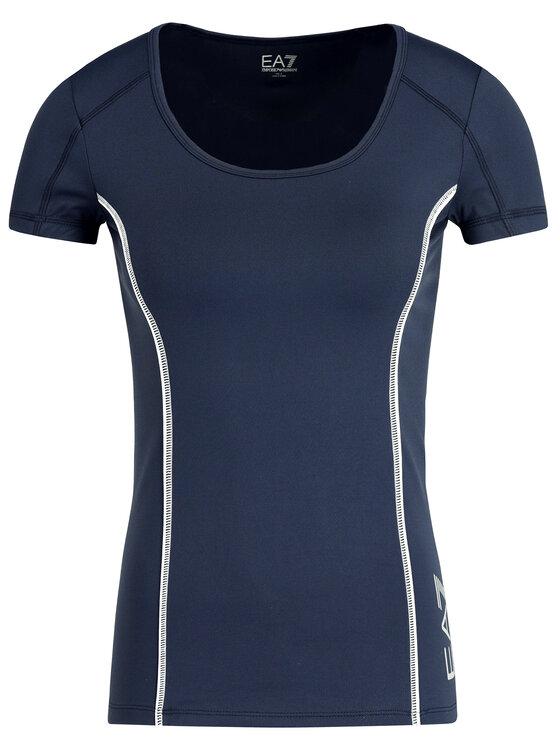 EA7 Emporio Armani EA7 Emporio Armani Marškinėliai 8NTT61 TJN1Z 1554 Tamsiai mėlyna Slim Fit