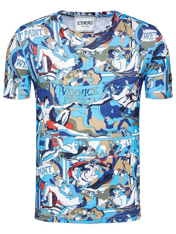 Iceberg Iceberg T-Shirt 21EI1POF0296301 Niebieski Regular Fit
