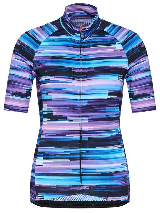 Quest Dviratininko marškinėliai Halifax Violetinė Race Fit