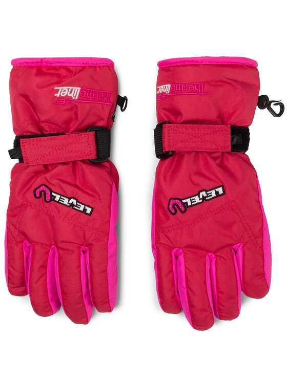 Level Slidinėjimo pirštinės Glove Junior 4152JG.30 Rožinė