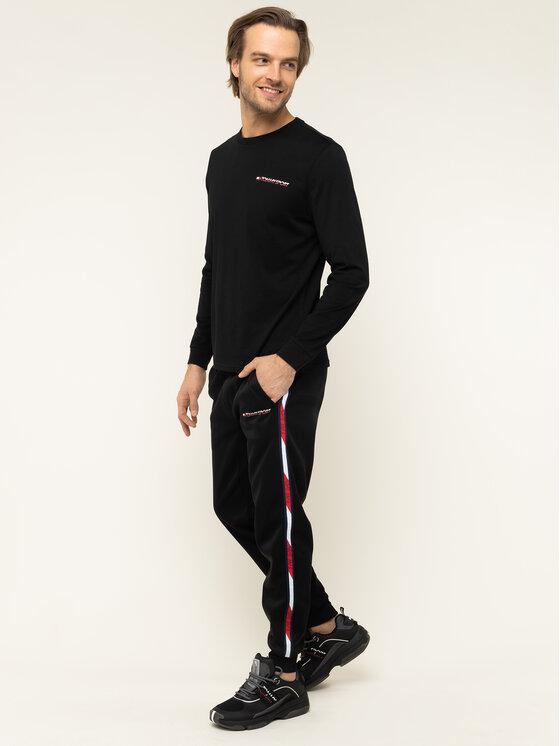 Tommy Sport Tommy Sport Longsleeve S20S200313 Μαύρο Regular Fit