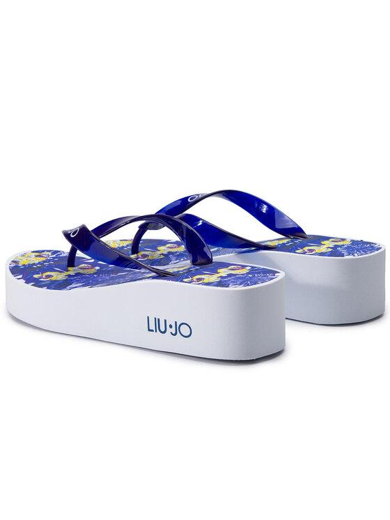 Liu Jo Liu Jo Šlepetės per pirštą Ciabata Con Zeppa B V19105 E0396 Tamsiai mėlyna