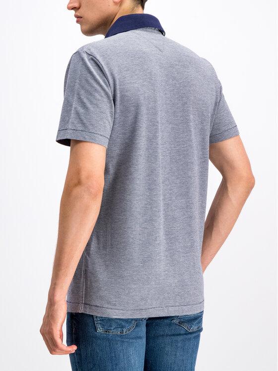 Tommy Hilfiger Tommy Hilfiger Тениска с яка и копчета MW0MW10779 Тъмносин Regular Fit