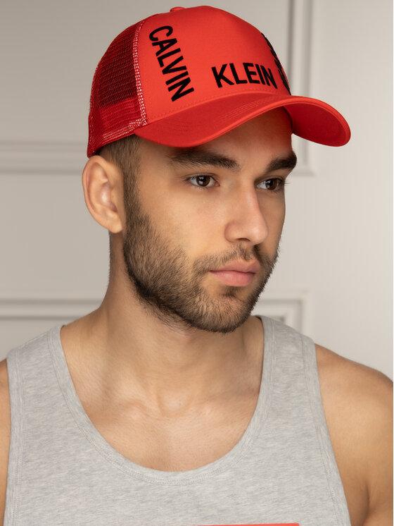 Calvin Klein Jeans Calvin Klein Jeans Czapka z daszkiem J Trucker Mesh Cap K50K504321 Czerwony
