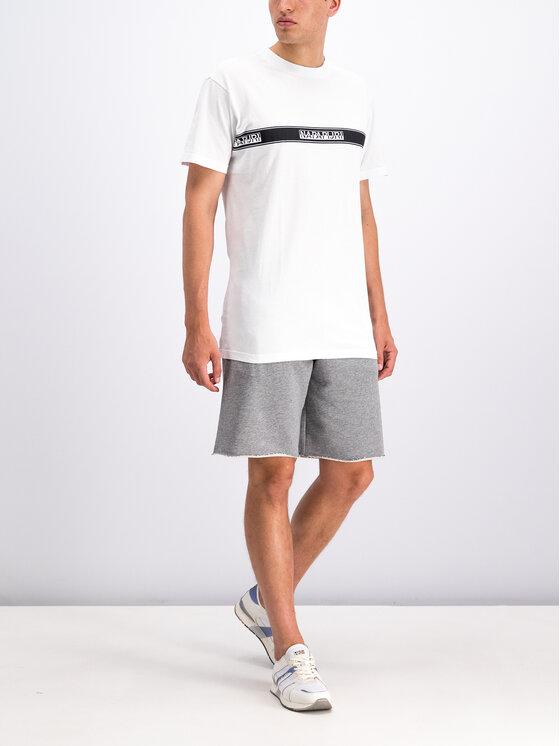 Napapijri Napapijri T-Shirt Sagar N0YHUD Λευκό Regular Fit