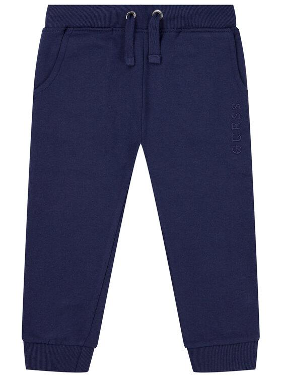 Guess Guess Spodnie dresowe H01T02 K8D80 Granatowy Regular Fit