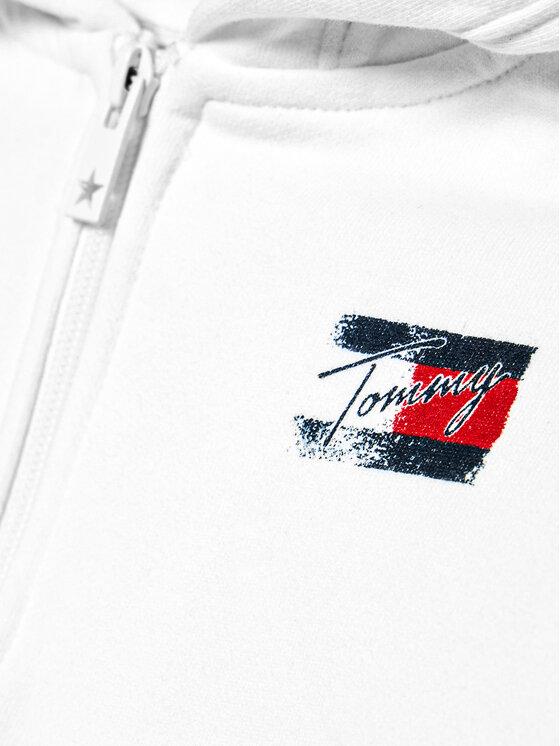 Tommy Hilfiger Tommy Hilfiger Bluza Flag Print KG0KG05765 D Biały Regular Fit
