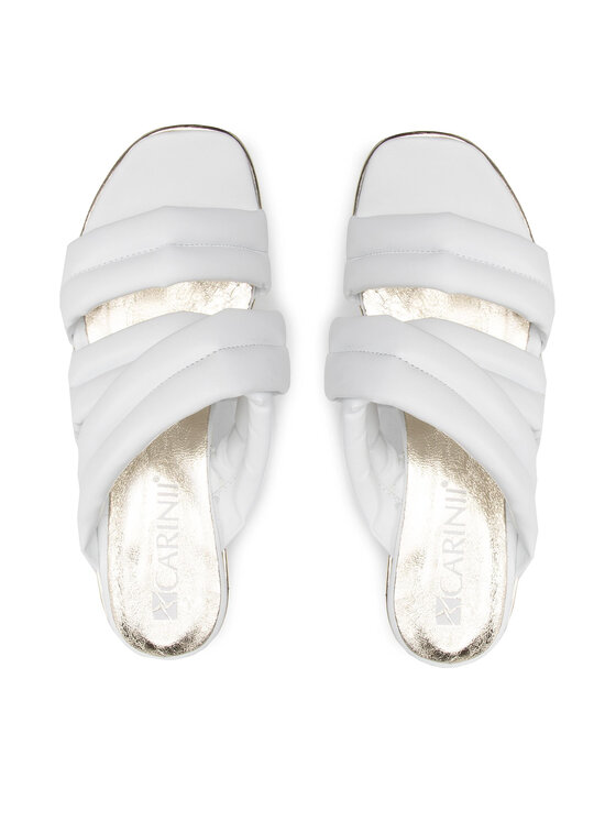 Carinii Carinii Klapki B7109 Biały