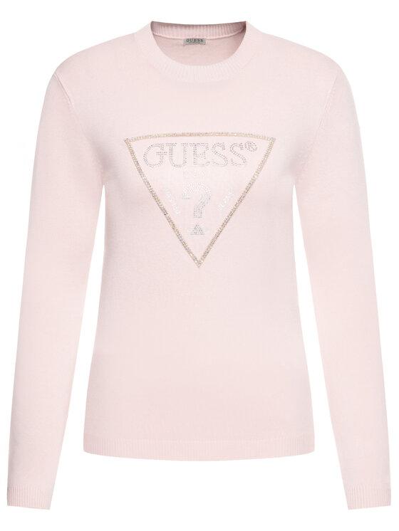Guess Guess Sweter Naomi W01R92 Z2760 Różowy Regular Fit