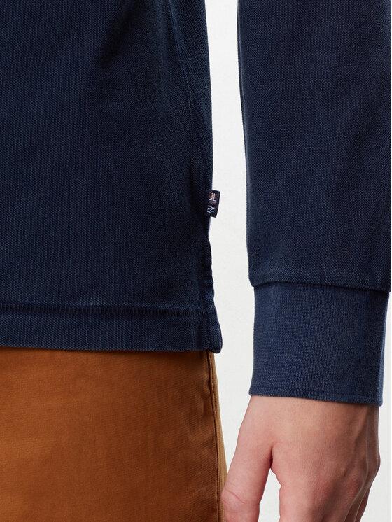 Napapijri Napapijri Тениска с яка и копчета Eisberg N0YIX9 Тъмносин Regular Fit