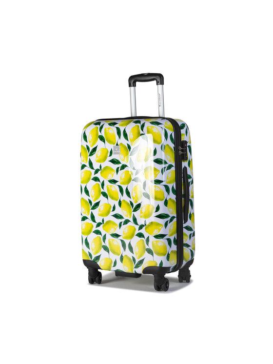 Saxoline Vidutinio Dydžio Kietas Lagaminas Trolley M Lemon 1438H0.60.10 Spalvota