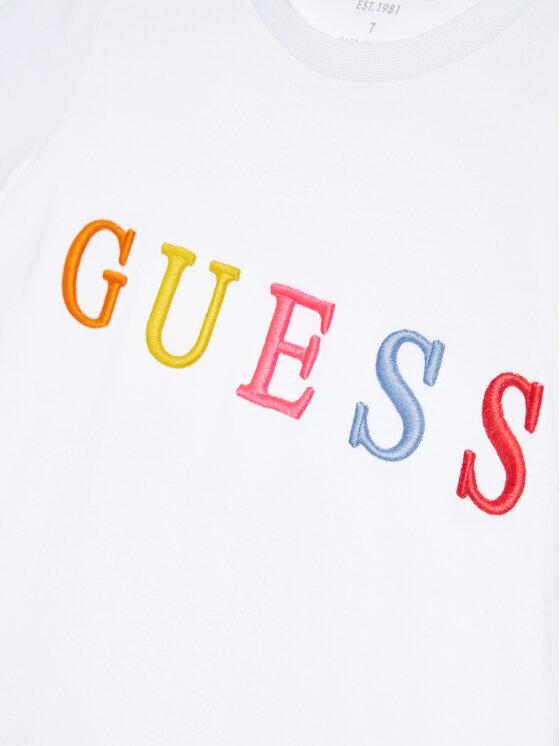 Guess Guess T-Shirt H1RJ04 K8HM0 Biały Regular Fit
