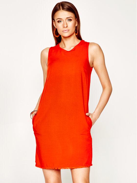 Manila Grace Kasdieninė suknelė Sacchetto A437VU Oranžinė Regular Fit