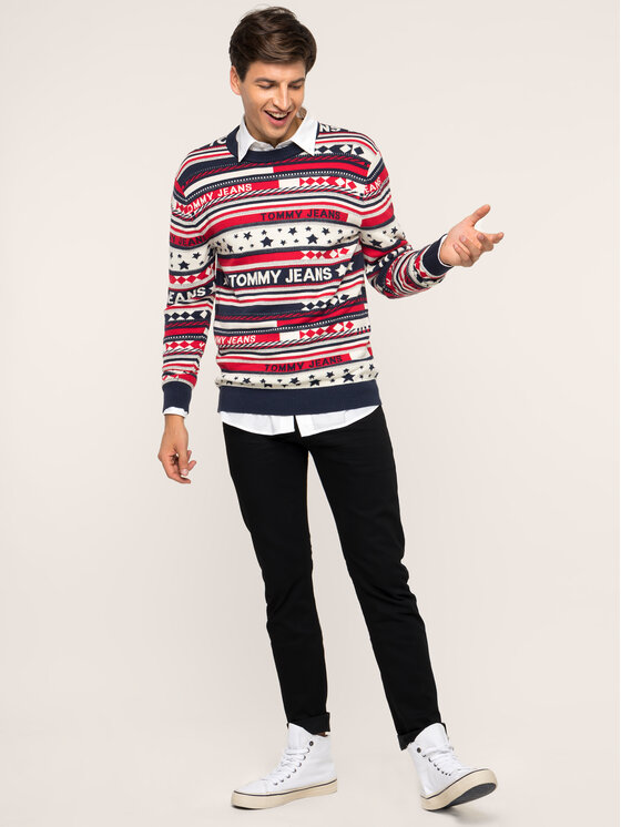 Tommy Jeans Tommy Jeans Maglione TJM Americana DM0DM06995 Multicolore Regular Fit