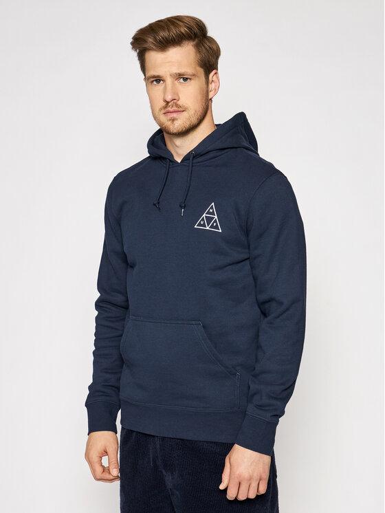 HUF Džemperis Essentials Tt PF00100 Tamsiai mėlyna Regular Fit