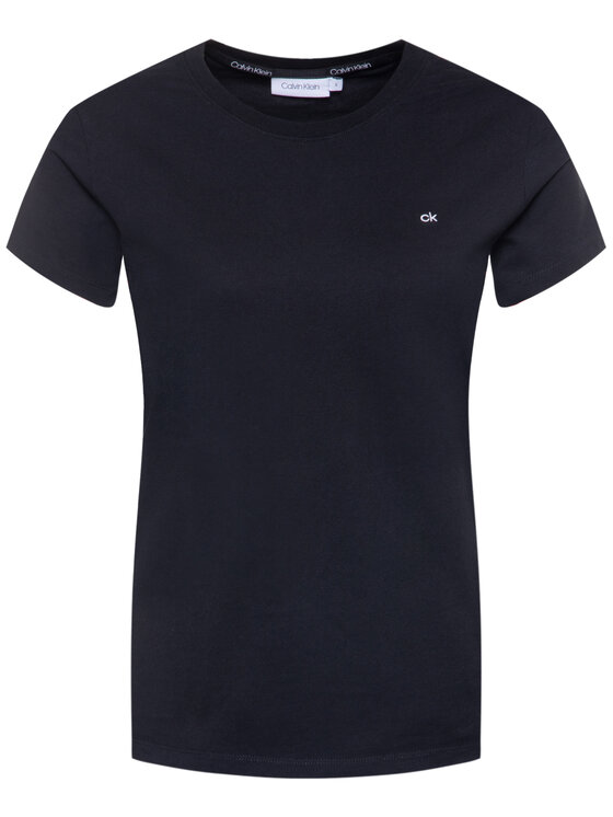 Calvin Klein Calvin Klein Marškinėliai Embroidered Tee K20K202021 Juoda Regular Fit