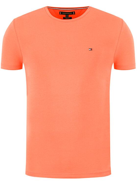 Tommy Hilfiger Tommy Hilfiger Marškinėliai Stretch MW0MW10800 Oranžinė Slim Fit