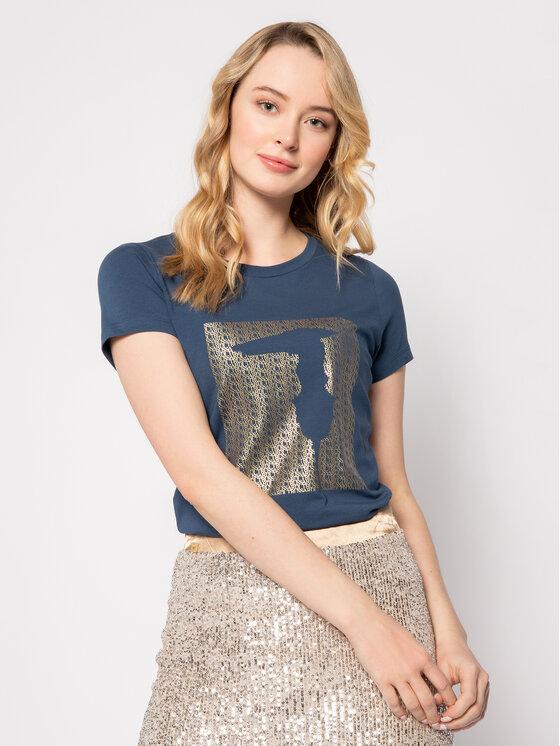 Trussardi Trussardi T-Shirt 56T00263 Σκούρο μπλε Slim Fit